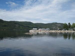 Neset Camping aan de Byglandsfjord