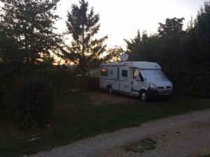 Zonsondergang op Camping Königskanzel