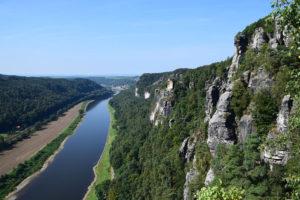De Elbe, vanaf de Bastei