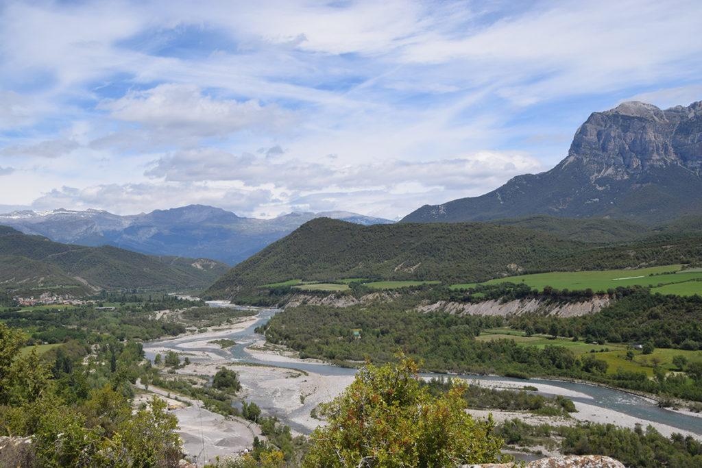 Uitzichtpunt tijdens de wandeling in omgeving L'Ainsa